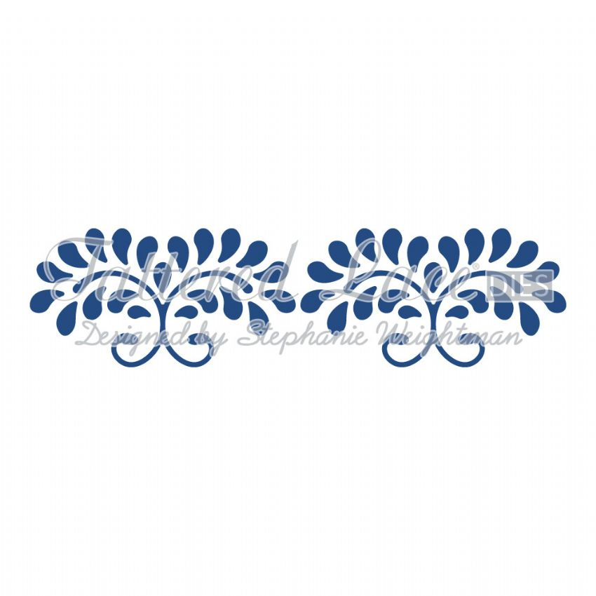 Tattered Lace Die Floral Swirls Border - D647